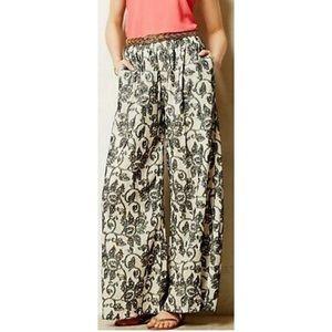 San & Soni Cotton Terre Wide-Leg Pants NWT Size 0R